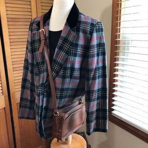 Vintage COACH Multi zip camel leather crossbody